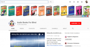 Audio Books For Blind - website học tiếng Anh